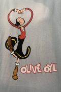 ポパイ Popeye オリーブ Olive ヴィンテージ テイスト T/S Tシャツ