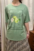 Italy Green Apple 青りんご キラキラ 半袖 Tシャツ
