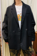 Wジャケット ブラックデニム Gジャン ミックス