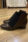 フロントゴア ショート ブーツ