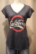 コカ・コーラ風 カリフォルニア ベア プリント スラブ Tシャツ