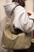 編みステッチ ショルダー バッグ