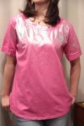 Italy 型押し ☆ 箔グラデーション プリント 半袖 Tシャツ
