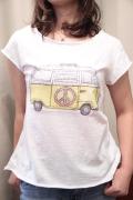 Italy ワーゲンバス プリント 半袖 Tシャツ