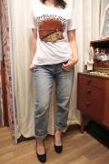 ハリネズミ フカフカ アップリケ 半袖 Tシャツ