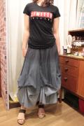 異素材 グラデーション コンバーチブル ロングスカート