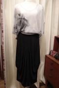 染めプリント サブリメーション バーナウト 裾すぼまり 半袖 Tシャツ
