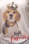"""Royal Family"" ビーグル プリント スラブ Tシャツ"