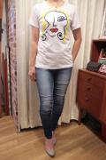 Italy アート プリント 半袖 Tシャツ