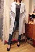 Spoom スプーム DORIS-2 ビッグ襟 チェスター風 ウールコート