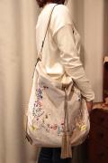 ベロア 刺繍 4Way バックパック ショルダーバッグ