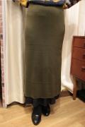 レイヤード 2枚仕立て きれいなシルエット ニット スカート
