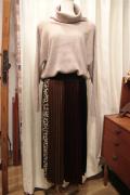 8枚ハギ 柄切り替え ミディ ロング プリーツ スカート