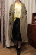 刺繍柄 チュール スカート