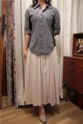サテン ソリッド スカート