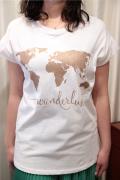 Italy 世界地図 Tシャツ
