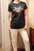 Italy Cat ネコ プリント 半袖 Tシャツ