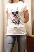 Italy サングラス ドッグ 半袖 Tシャツ