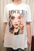 "Italy ""VOGUE"" フォトプリント ビッグ Tシャツ"