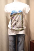 Italy プードル プリント 半袖 Tシャツ