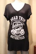 """RAOD TRIP"" MORTORCYCLE バイク プリント Tシャツ"