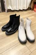 エナメル トップゴア ショート ブーツ