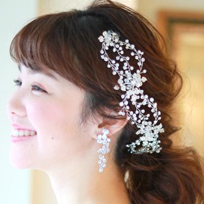 【実店舗レンタル商品】ブライダル髪飾り B-348