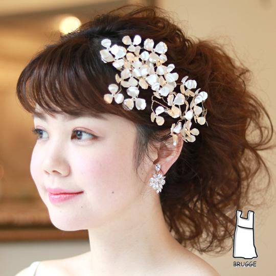 【雑誌掲載アイテム】【大人ウエディング】【店舗人気】ブライダル髪飾り B-344