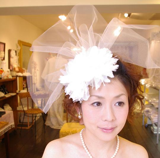 【アレンジstyle2の2セット】コーム付き髪飾りB-300&コサージュCS-0210(※もれなくもう一個同じコサージュがもらえる)セット