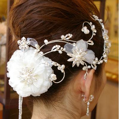 【雑誌掲載商品】【華やか系】スタイリッシュなヘアアクセサリー 髪飾り B-156