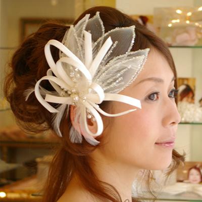 【実店舗レンタル商品】ブライダル髪飾り B-196