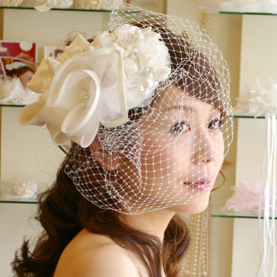 【実店舗レンタル商品】大ぶりブライダルヘッドドレス 髪飾りヘアアクセサリー B-201