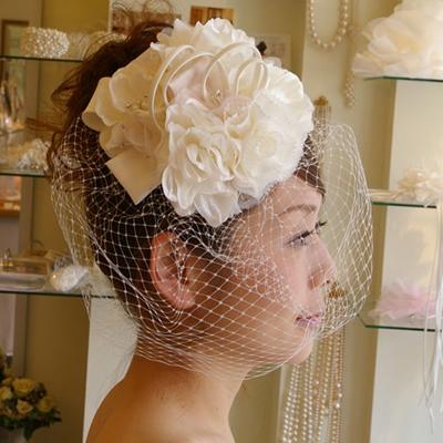 【実店舗レンタル商品】大ぶりブライダルヘッドドレス 髪飾りヘアアクセサリー B-202
