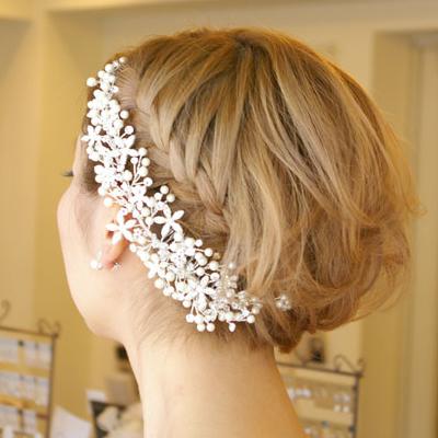 【ご遠方レンタル商品】 ブライダルヘアアクセサリー 髪飾り B-303