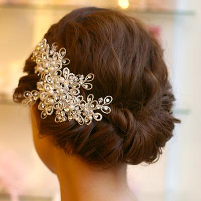 【ご遠方レンタル商品】ブライダルヘアアクセサリー 髪飾り B-309