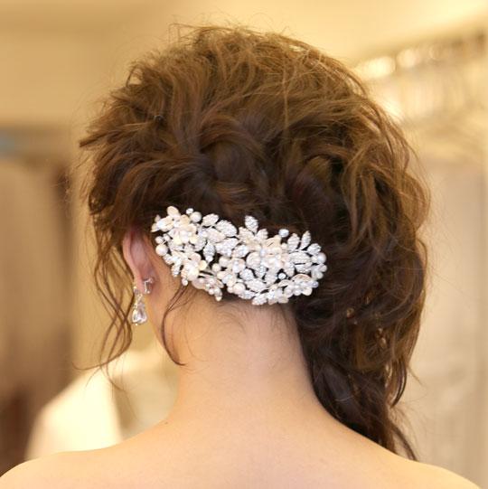 【ボンネタイプ】ブライダル髪飾り B-319