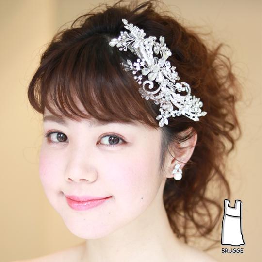 【新着商品】【店舗人気】【和装にも】爽やか系ブライダル髪飾り B-324