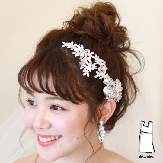 【ご遠方レンタル商品】ブライダルヘアアクセサリー髪飾り B-328