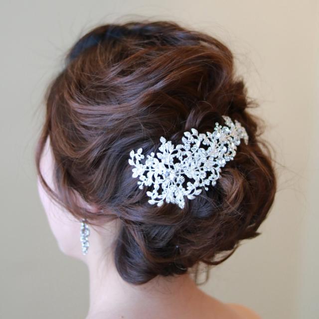 【新着商品】【海外挙式】ブライダル髪飾り ボンネ B-345