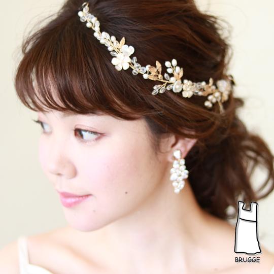 【新着商品】【海外挙式】小枝アクセサリー ブライダル髪飾り B-360 ★2色展開★シルバーorゴールド