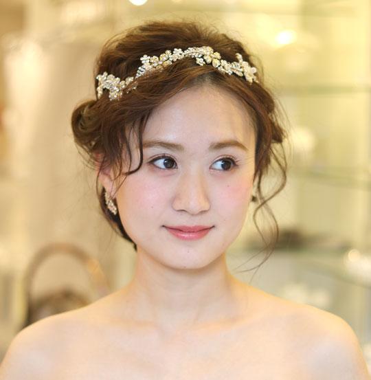 【実店舗レンタル商品】ブライダル万能髪飾り B-751 ★シルバーorゴールド 2色展開★
