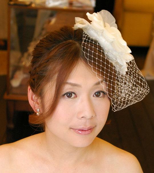【実店舗レンタル商品】チュール付きヘッドコサージュ  CS-0202
