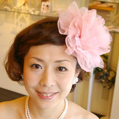 【実店舗レンタル商品】ヘアアクセサリーコサージュ ピンク CS-0501P