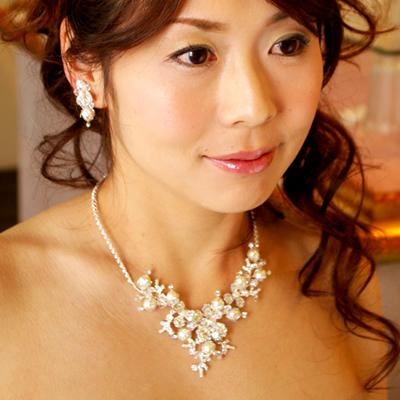 【ご遠方レンタル商品】ネックレス&イヤリング DN-0142