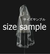 ブライダル マリアルベール ひざ丈 M-192(直径150cm)