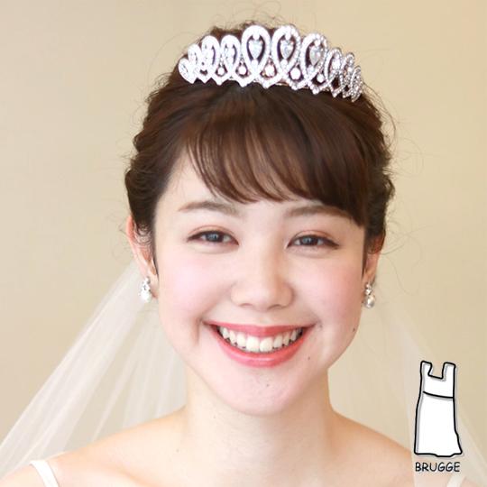 【実店舗レンタル商品】ブライダルティアラTA-0183