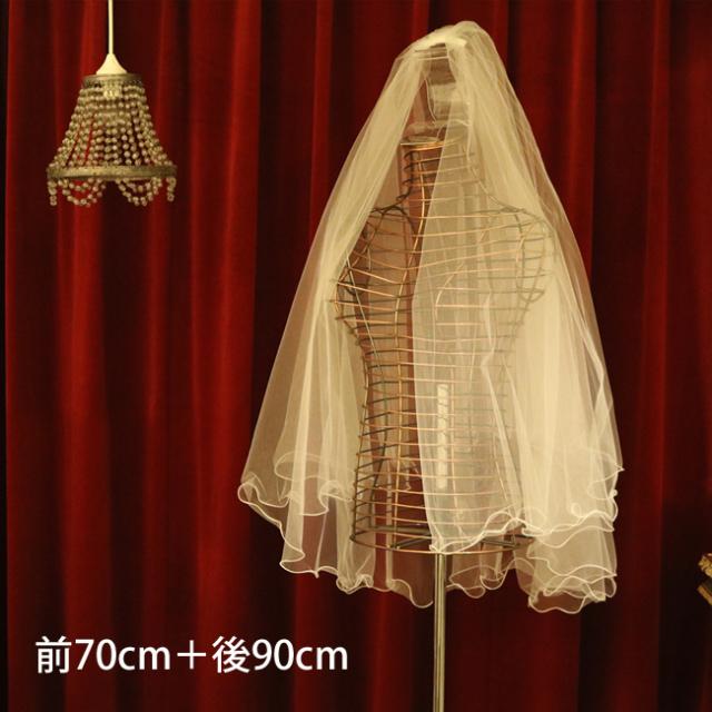 【ご遠方レンタル商品】テグスウェイブベール V-605(70+90)