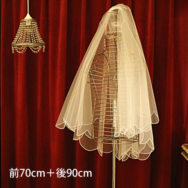 【ご遠方レンタル商品】スカラップ刺繍 V-703(70+90)