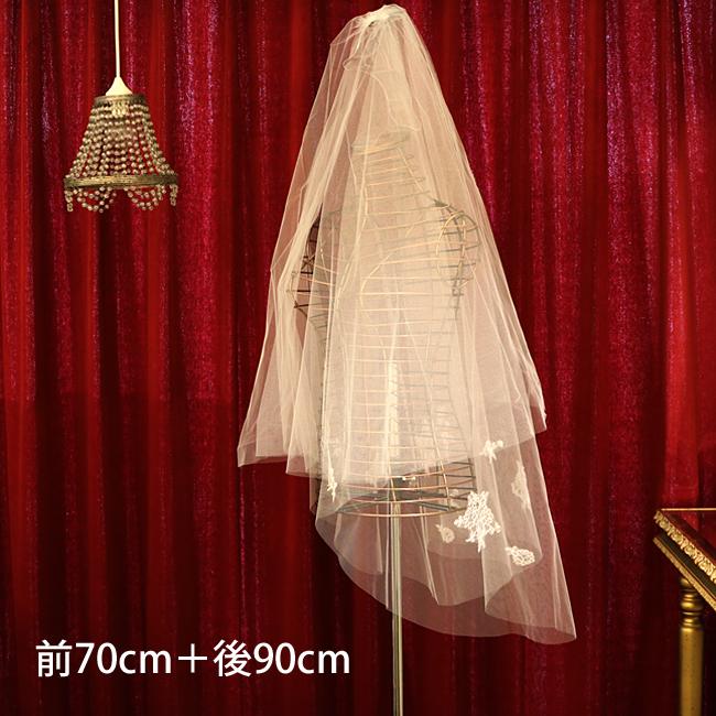 【ご遠方レンタル商品】フランス製リバーレース ベール V-180(70+90)