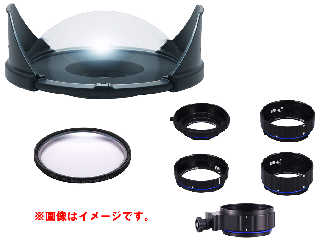 SEA&SEA Canon EF16-35mm F4L IS USM 用 内部補正レンズ付ポートセット